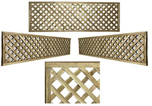 PGS Elite Highgrove Diamond Trellis in 5 sizes garden lattice Urban Trellis contemporary Garden Fence (183cm wide x 45cm tall (6x18))