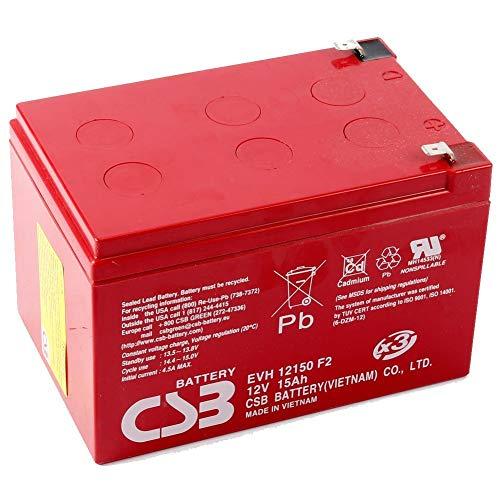 Mach1 Batería de Plomo 12 V/15 Ah CSB para Patinete eléctrico 12 V/15 amperios Marca CSB EVH12150