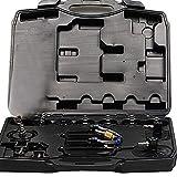 Juego de adaptadores de 11 piezas Para dispositivo de purga de frenos de aire comprimido Negro Universal adecuado para la mayoría de las purgas de frenos Euro E20