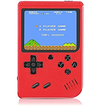 Retro Handheld Game Console Mini Arcade Machines Built-in 400 Classical FC Games Portable Handheld Video Games for Kids and Adult Gameboy Console Box Support TV Output  Red