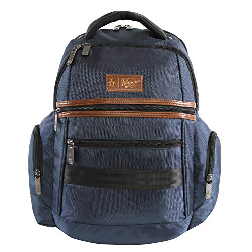 Original Penguin Unisex-Erwachsene Classics Backpack Fits Most 15-inch Laptop and Notebook Rucksack, Navy, Einheitsgröße