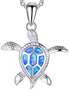 Turtle Necklace Shell Necklace Stainless Steel Necklace Starfish Necklace for Womens Girls Jewelry
