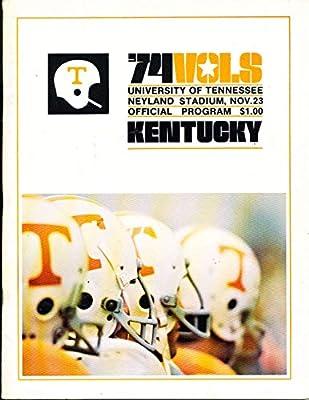 11/23 1974 Tennessee vs Kentucky Football Program bx17