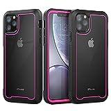 Funda iPhone 11 Pro MAX 360 Grados Carcasa Ultrafina Antigolpes Case Anti-Arañazos Carcasa con Protector de Pantalla Incorporado para Apple iPhone 11 Pro MAX (Rosado)