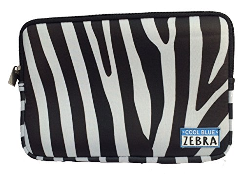 Cool Blue Zebra Neopreno Bolsa - Utilidad Bolsa, Manga