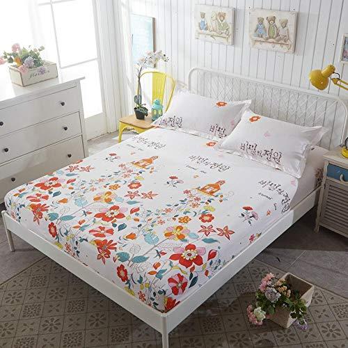 HPPSLT Protector de colchón - Protector de colchón antialérgico Sábana de Cama de algodón Aloe Simple-3_180 * 200cm