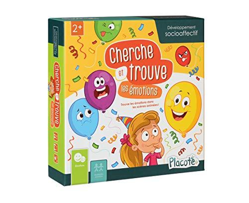 Placote- Cherche et Trouve Les émotions Jeu Éducatif 2 à 5 Ans, PLA19