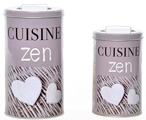 AVENUELAFAYETTE Set de 2 Boîtes métal Cuisine Zen