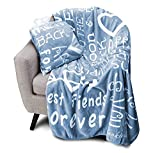 Blankiegram I Love You Throw Blanket The Perfect Caring Gift for Best Friends, Couples & Family (Blue)
