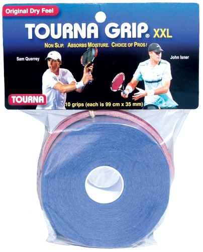 Tourna Grip, XXL, Dry Feel Tennis Grip (Pack of 10)