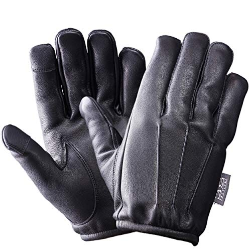 3S Tactical Cut Resistant Police Duty Leather Glove With...