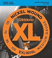 D'Addario ダダリオ ベース弦 ニッケル Super Long Scale .050-.105 EXL160SL 【国内正規品】