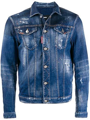 DSQUARED2 Luxury Fashion Herren S74AM1027S30342470 Blau Elastan Jacke   Frühling Sommer 20
