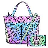 HOT ONE Colour Cambia Zaino Donna Borse e Borsette Luminose Geometriche...