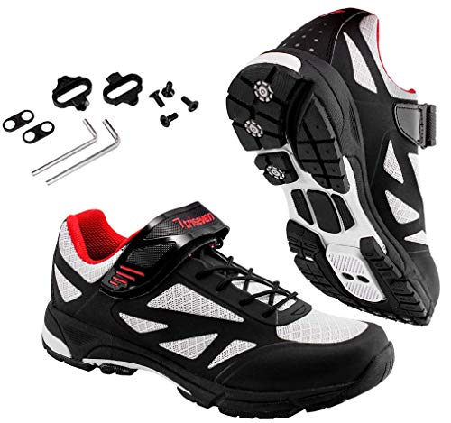 TriSeven Mountain MTB Shoes - Lightweight, Breathable Synthetic Leather, Anti-Slip Heal &...