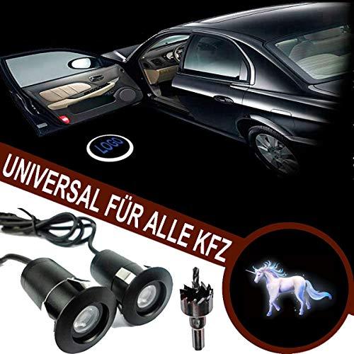 VAWAR Autotür Logo Licht, 12V LED Projektor, Ghost Shadow Willkommen Einstiegsbeleuchtung, 5th Gen. Geist Schatten Lampe, universal for Alle KFZ
