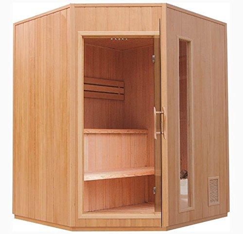 Sauna/hoeksauna met Harvia saunakachel ECK! Nieuw! (infraroodcabine) / 5 personen.