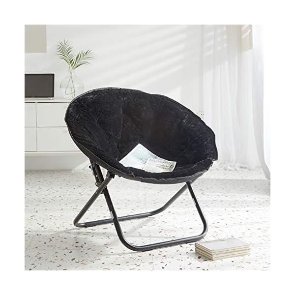 Mainstay Faux-Fur Saucer Chair, Multiple Colors