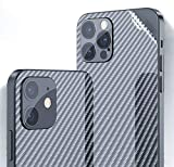 For iPhone 12 Pro Max Back Screen Protector 3D Carbon Fiber Ultra Thin Protective Film-2 packs-Transparent