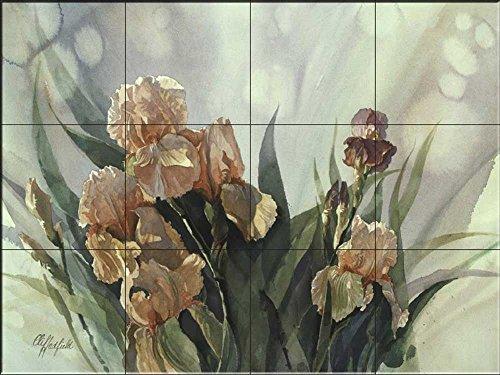 Keramik Fliesen - Iris II- von Clif Hadfield - Küche Aufkantung / Bad Dusche