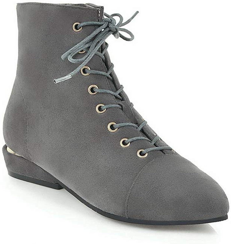 BalaMasa Womens Nubuck Lace-Up Warm Lining Urethane Boots ABL11556