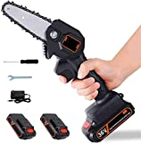 Dysel Mini Chainsaw Cordless Handheld with Battery and Charger, Portable Branch Saw Cutter Electric, 5 Inch Pruning Shears Chainsaw for Tree Wood Cutting Lightweight36V-2 Batteries