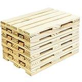 Acan Pack de 6 bandejas Madera de Mini palets 24 x 16 x 2.5 cm