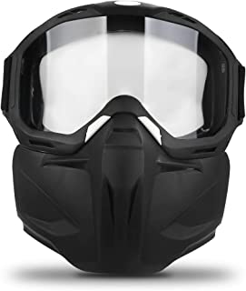 Freehawk Motorcycle Goggle Mask - Tactical Glasses with Detachable Mask for Airsoft/CS/Desert Offroad Riding/Skiing/Snowmo...