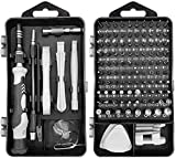 ⏰[A wide selection of 119 plus 1 screwdriver kit] It can be used for electronics,iphone,watch ,glasses,laptop,Jewelers and home appliances such as televisions, air conditioners, etc.We have also prepared three special impact driver bits T6, T8 and T1...