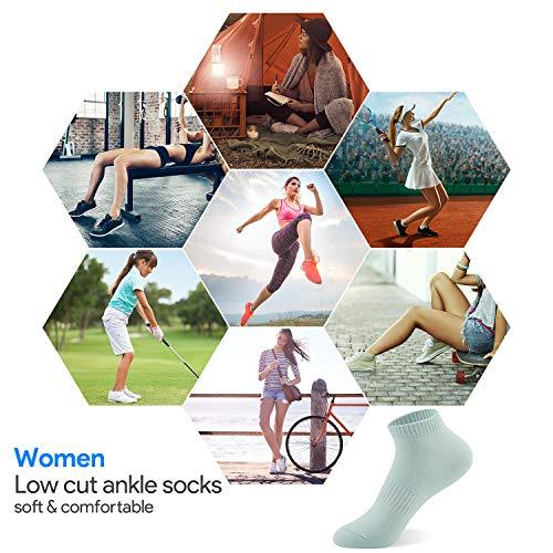 YMWALK Women Socks Comfortable Cotton Casual Socks Low Cut Ankle Socks Breathable Liner Short Crew Socks for Running Walking Fitness Outdoor Sports-Black
