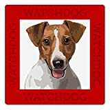 WATCH4DOGZ Jack Russell Terrier Panneau Plaque Chien de Garde 22 x 22 cm