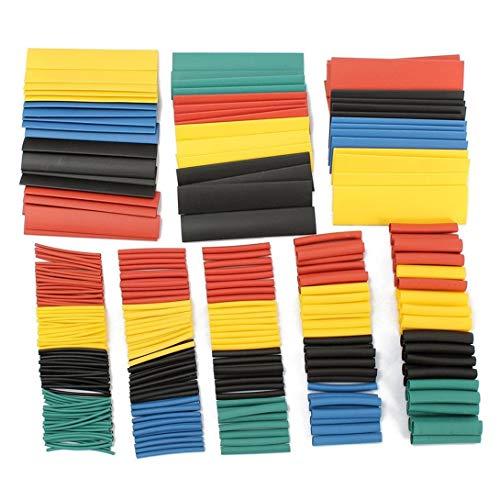 Swiftswan 328 Stück, 5 Farben, 8 Größen, 2: 1 Schrumpfschlauch, Wickelverpackung, Verbindungshülsen-Kit