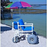 Aqua Creek Beach Access Wheel Chair - 4 Large Tires - F-013BAC