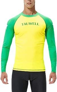 Men Long Sleeve UPF Baselayer Skins Compression Swim Tee