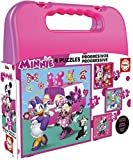 Educa- Minnie Happy Helpers Mickey and The Roadster Racers Maleta Puzzles Progresivos (17638)