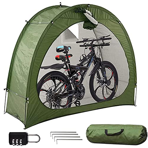 OUUUKL Carpa para Bicicletas - Cobertizo para Almacenamiento de Bicicletas - Carpa para Bicicletas Portátil para Bicicletas - Camping al Aire Libre Jardín Patio Trasero Garaje Refugio