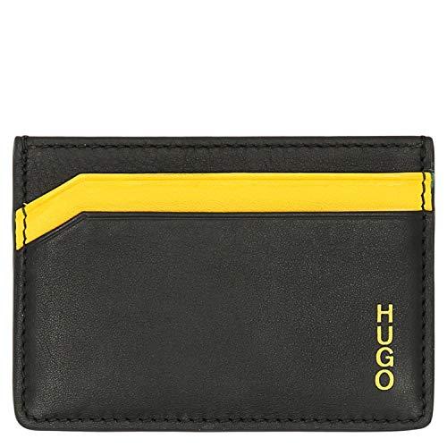 HUGO Subway S Card Kreditkartenetui 10 cm Black/Yellow