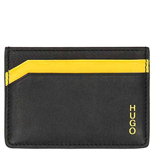HUGO Subway S Card Kreditkartenetui 10 cm Black/Yellow
