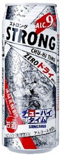 『日本サンガリア ストロングチューハイタイムゼロドライ ロング缶 500ml×24本』のトップ画像