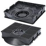 2 filtros de carbón activo para campana extractora, adecuados para filtros de carbón Elica F00189/S, Type 303, Whirlpool 484000008581, AEG 902979360/2, IKEA Nyttig FIL 558