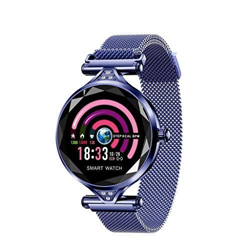WYXIN Pedometro per Orologio da Polso Intelligente Sportivo da Donna,Blue
