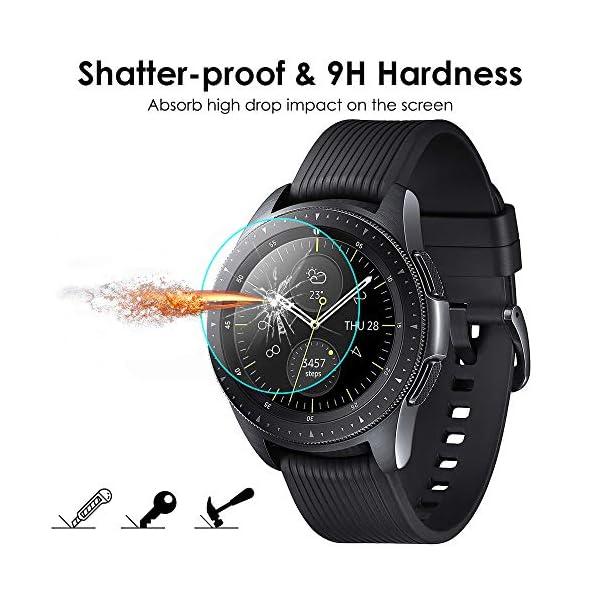 KIMILAR [3 Pcs] Pantalla Compatible con Samsung Galaxy Watch 42mm/Galaxy Watch 3 41mm Protector Pantalla, Templado… 8
