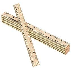 professional 2 scale wooden ruler 12 inch ruler bulk wooden measuring ruler office ruler 72 pack
