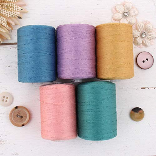 Great Deal! Threadart 100% Cotton Thread Set | 5 Spring Bouquet Colors | 1000M (1100 Yards) Spools |...
