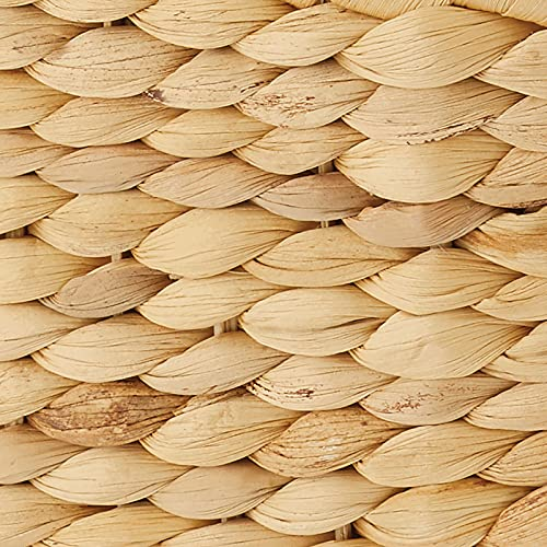 mDesign naturbelassener Flechtkorb aus Wasserhyazinthe – stapelbarer Weidenkorb – ideale Aufbewahrung für das Badezimmer – bambusfarben - 5