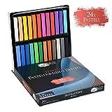 Artina 24er Pastellkreide Set Pasteo - Softpastellfarben in Studio Qualität als feine Kreide Stifte...