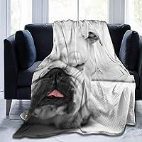 ブランケット ブルドッグ 毛布 フランネル ソファ毛布 昼寝毛布 車毛布 肩毛布 子供毛布 ペット毛布 あたたかい タペストリー 大判 肌に近い 軽量 おしゃれな 柔らかい 抗菌防臭 エアコン対策 ソファ