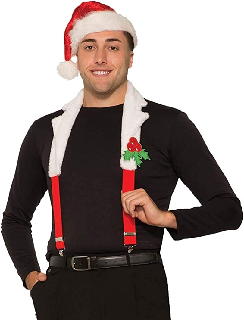 Forum Suspender With Collar, Christmas Adult Costume, Christmas, One Size