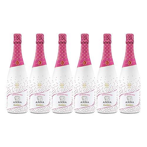 Codorníu | Cava Anna de Codorníu Ice Edition Rosé Cava Semiseco | Caja de 6 botellas de 75 cl