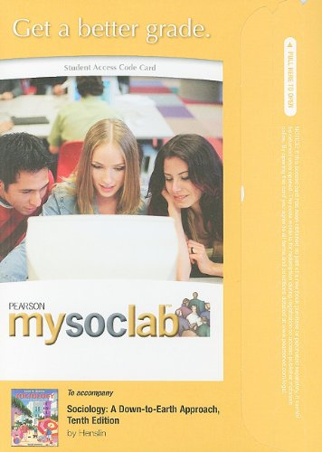MySocLab -- Standalone Access Card -- for Sociology: A Down-to-Earth Approach (10th Edition)